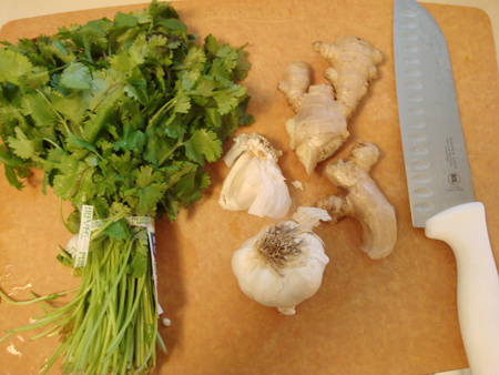 cilantro-ginger-and-garlic-picture